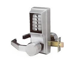 Kaba push button lock lever