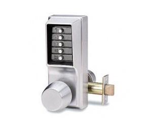 Kaba push button lock knob